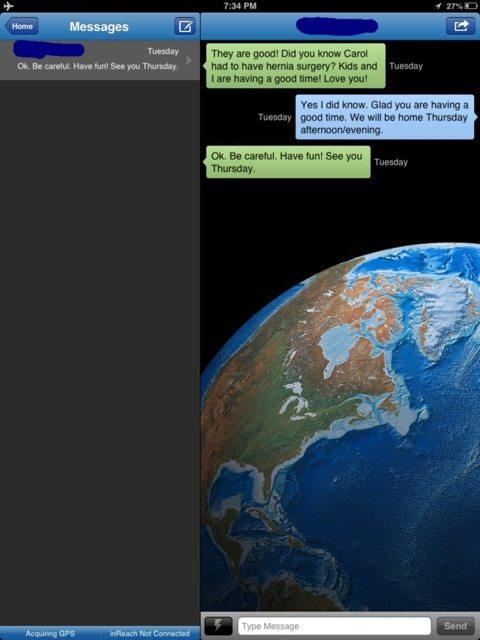 InReach Conversation page-view