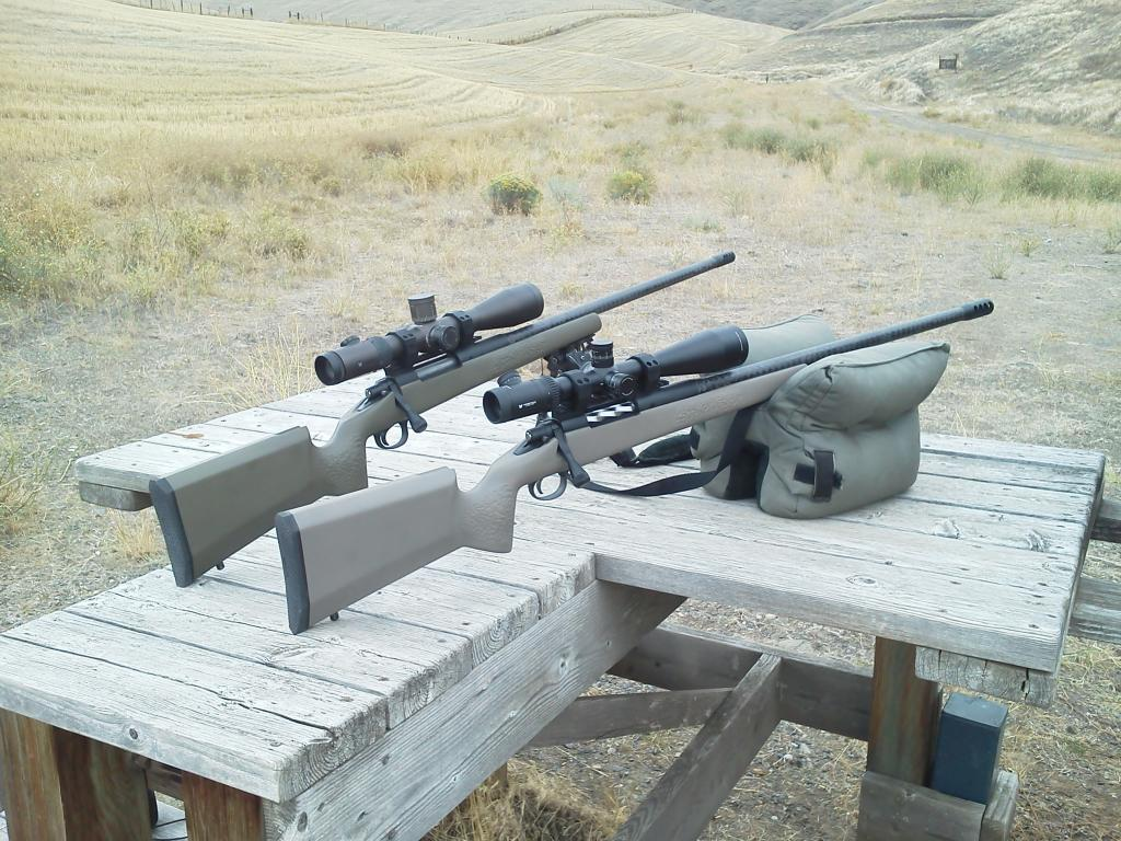 Two custom carbon barreled rifles from HCA