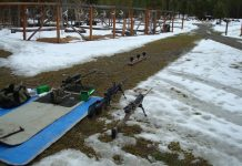 The author's 100 yard test range