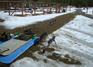 The author's 100 yard test range