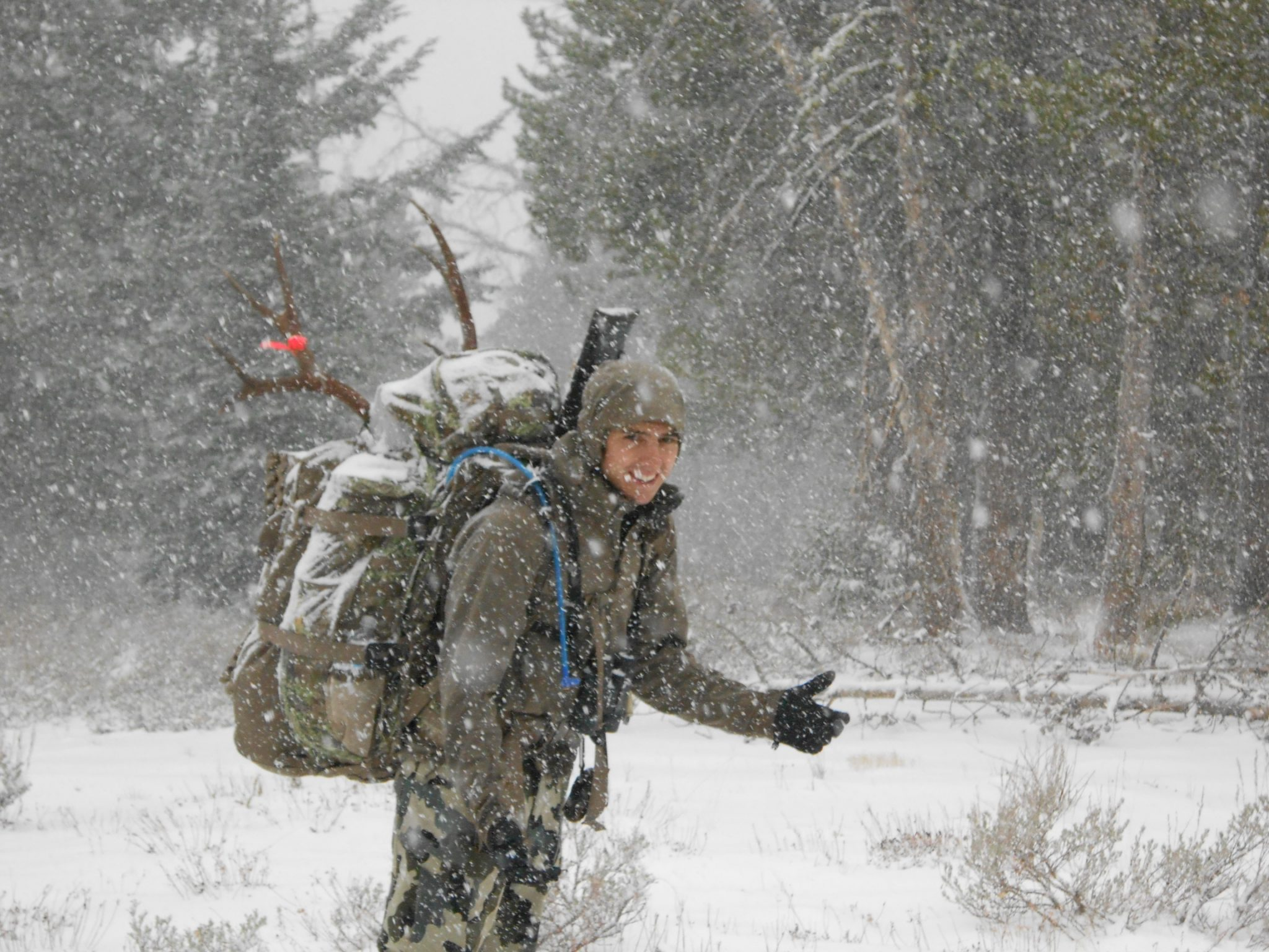 A fall snowstorm made this backpack trip a true challenge!